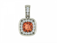 pendentif spinelle orange