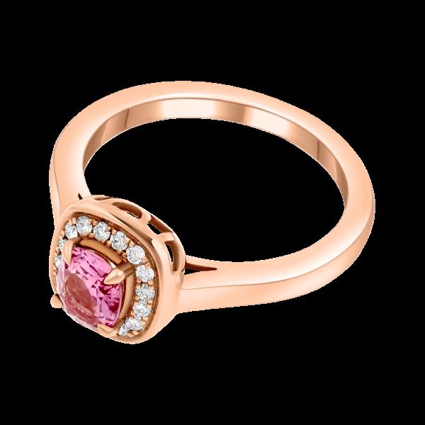Rose Gold Pink Spinel Ring
