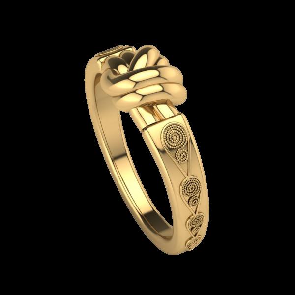 gold bowknot ring wedding