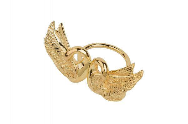 bague cygne double