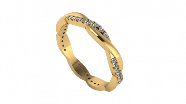 twist diamond ring yellow gold