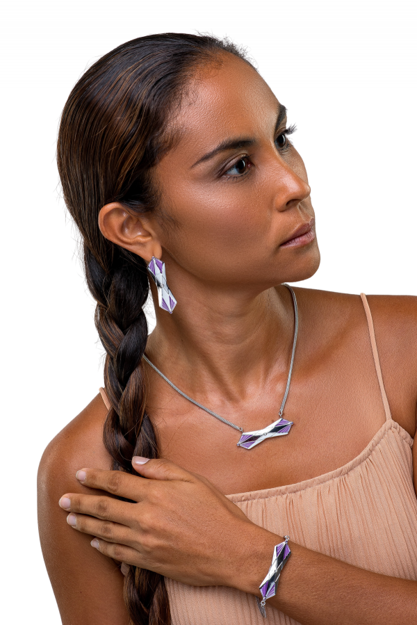 fearless jewellery collection africana jewellery set silver mannequin portrait
