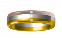 tri color gold ring 18 carats fearless jewellery 1