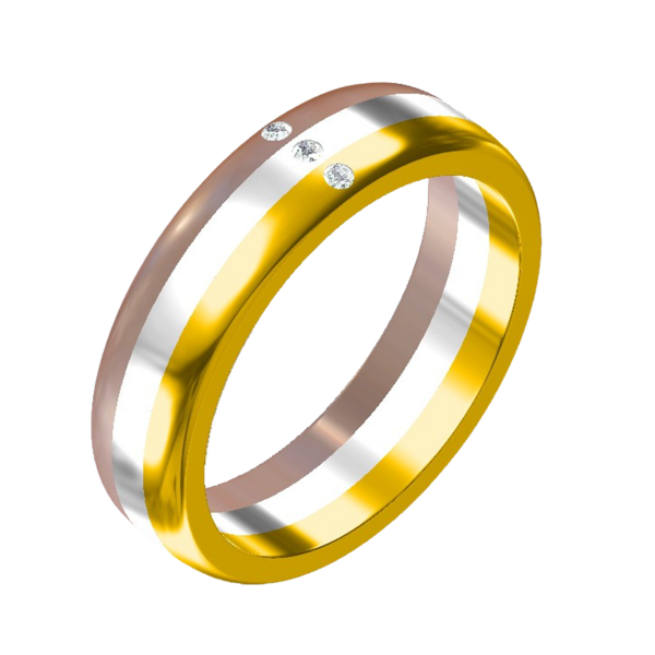 tri color gold ring