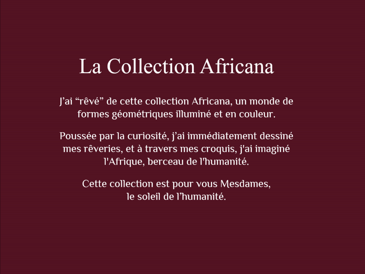 La collection africana 14